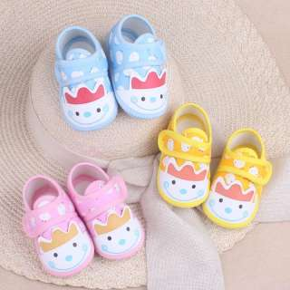 I Love Daddy & Mummy Giày vải dạng dán cho trẻ sơ sinh và trẻ nhỏ chất liệu cotton mềm mại kèm họa tiết đáng yêu - intl