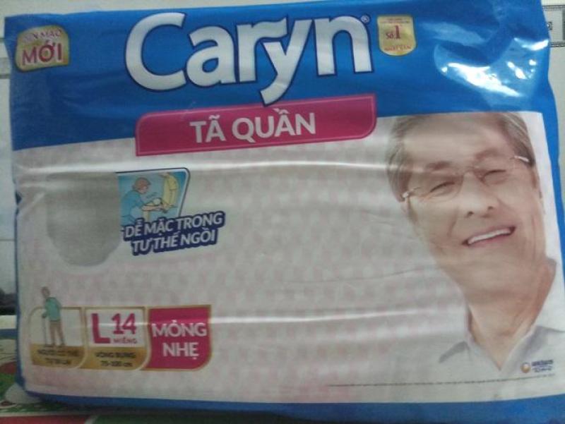 Tã Quần Caryn L14 miếng mỏng nhẹ_vòng bụng 75-100cm tốt nhất