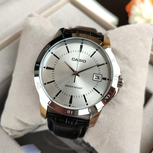 Đồng hồ Nam CASl0 MTP-V004L-7AUDF dây da
