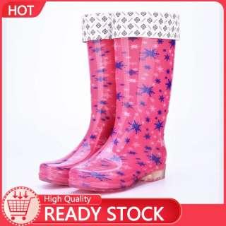 1F60 Bốt Đi Mưa Đầy Màu Sắc UP Cho Nữ Giày Nước Chống Thấm Nước Giữ Ấm Chống Mài Mòn Chống Trượt