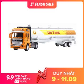 Mô hình xe vận tải chở dầu tỷ lệ 1 48 chất liệu hợp kim dành cho trẻ em trang trí bàn Dece Flor - INTL thumbnail