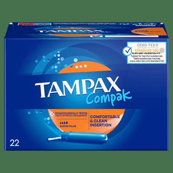 Tampon Tampax cần đẩy nhựa - công nghệ ngăn rò rỉ - 22 que - loại 4 giọt - ngày siêu nhiều
