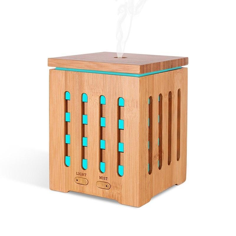 Bảng giá Máy phun sương  khuếch tán tinh dầu vỏ gỗ tre tự nhiên + tặng lọ tinh đâu sả chanh 10ml