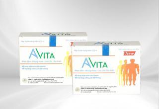 Tăng cân Avita giu p tăng cân bê n vư ng sau khi dư ng uô ng, giu p hô trơ ăn ngon miê ng, nhanh hâ p thu, mang la i da ng điê u đâ y đa chi sau mô t đơ t du ng viên đa m hô trơ tăng cân Avita (02 HÔ P) thumbnail