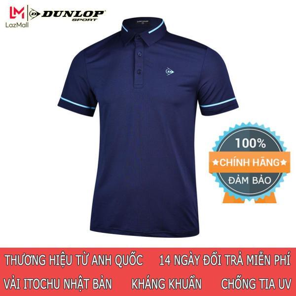 Áo thun thể thao Tennis nam Dunlop - DATES9069-1C Hàng Polo nam chính hãng Thương hiệu từ Anh Quốc Đổi trả miễn phí