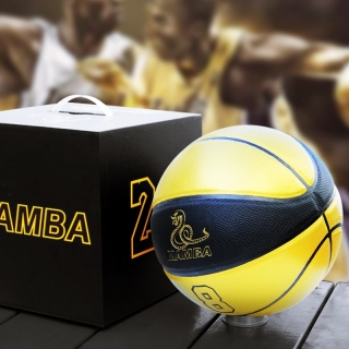 Bóng Rổ Kobe Bryant Đen Vàng Size Số 7 Da PU Cao Cấp Chuẩn Thi Đấu (Tặng bơm mini, băng cổ tay, túi rút dù, kim và lưới) thumbnail