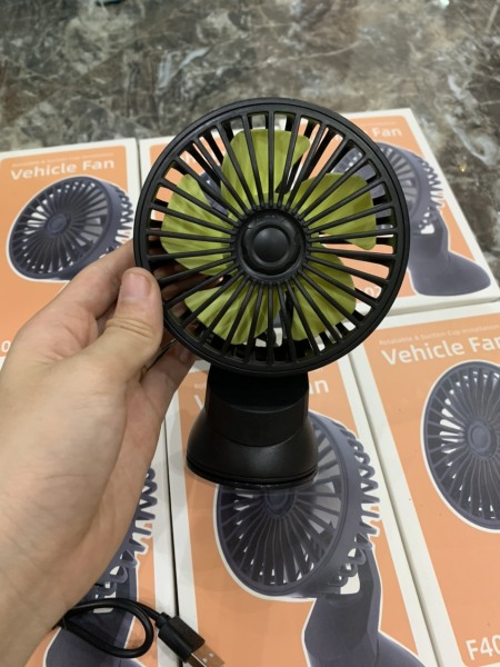 Quạt đơn mini, 1 chiếc quạt làm mát không khí, quạt có sáp thơm trên ô tô, quạt điều hòa, quạt điện xoay 360 độ trên ô tô, xe hơi, bàn làm việc (loại mới nhất)
