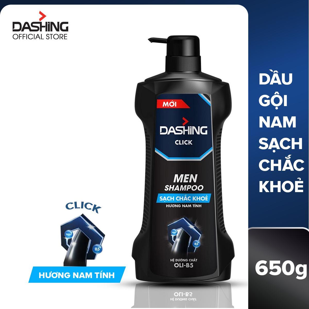 Dầu gội cho tóc sạch chắc khỏe dành cho nam giới Dashing Click Men Shampoo 650g