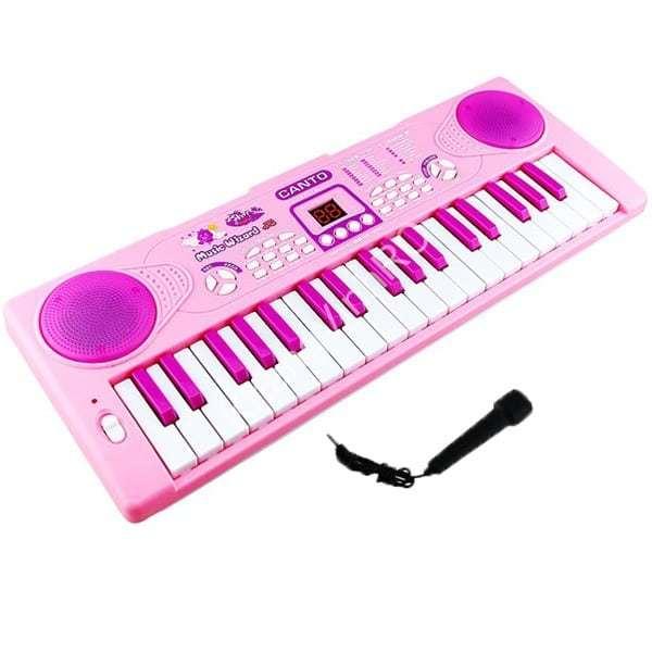 Đàn Piano 3701 có micro-Hộp đàn organ pin 37 phím kèm micro-Đồ chơi âm nhạc-Đàn cho bé-Đàn có kèm Micro bé Vừa tập đàn,tập hát
