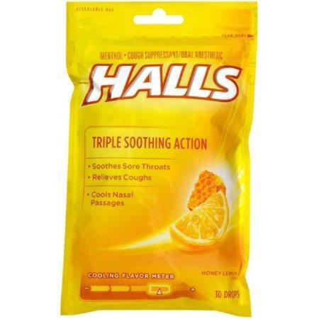 Kẹo ngậm Halls – honey lemon