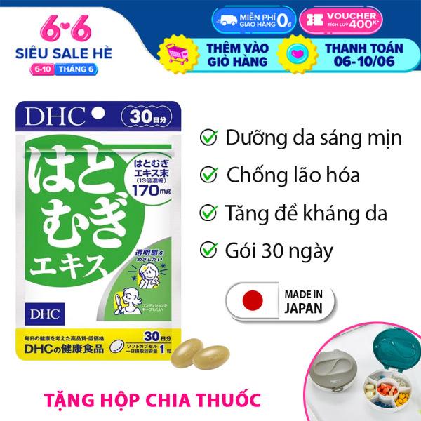 Viên uống trắng da DHC Nhật Bản Adlay Extract thực phẩm chức năng giúp dưỡng ẩm da, giảm thâm, tăng cường đề kháng da có vitamin E 30 ngày XP-DHC-ADL30 giá rẻ