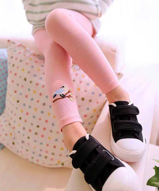 Giá bán Quần legging cho bé gái 3-8 tuổi cạp thêu tinh tế BBShine – Q004