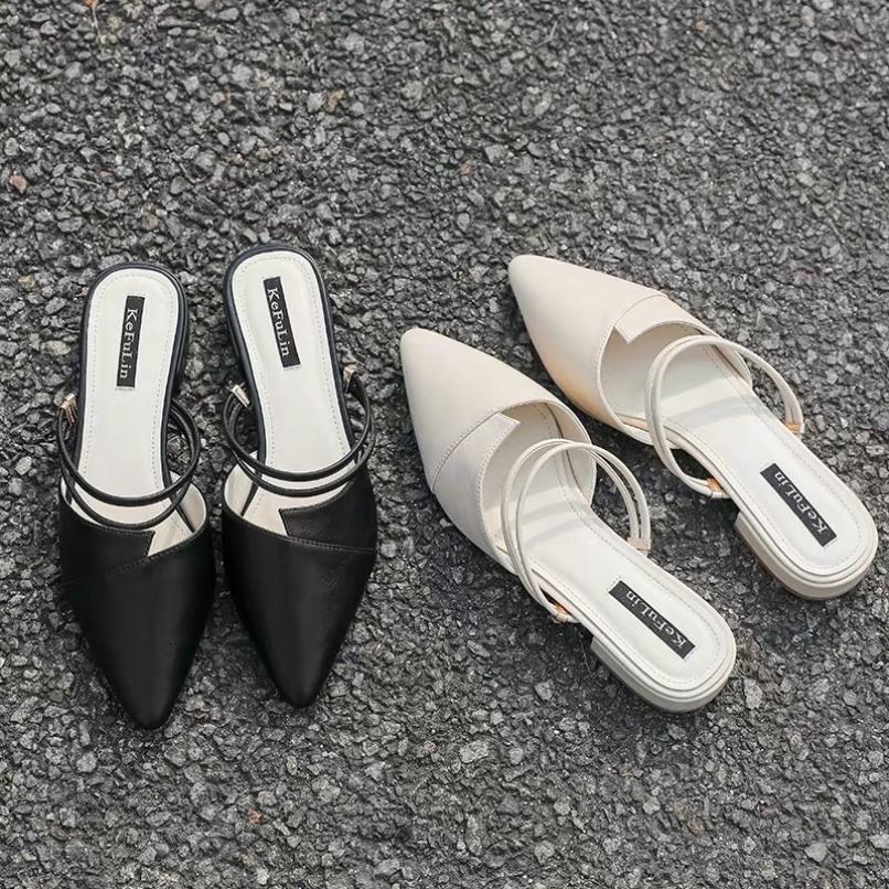 FREE SHIP sandal nữ mũi nhọn đi được 3 kiểu cực đẹp đế 3f giá rẻ