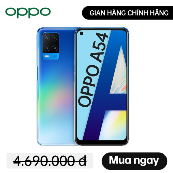 Điện thoại OPPO A54 4GB/128GB - Hàng Chính Hãng, mới 100%, Nguyên Seal, Bảo hành 12 tháng