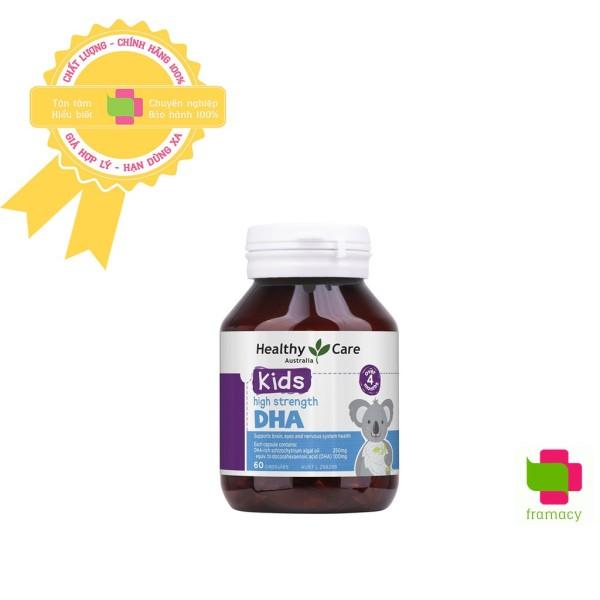 Viên uống bổ sung DHA Healthy Care Kid's High DHA, Úc (60 viên) bổ sung omega-3 cho trí não bé từ 4 tháng tuối cao cấp