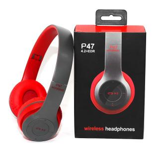 Tai nghe bluetooth Tai nghe thể thao Tai nghe chụp tai cao cấp có khe thẻ nhớ Bluetooth P47 Wireless Headphones P47 - Âm Thanh Đỉnh Cao thumbnail