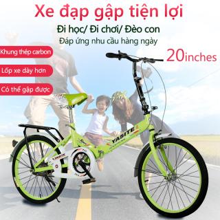 Xe đạp 20 inch có thể gấp gọn 2 màu xanh lam xanh lá xe đạp cho thanh niển, người già camry thumbnail
