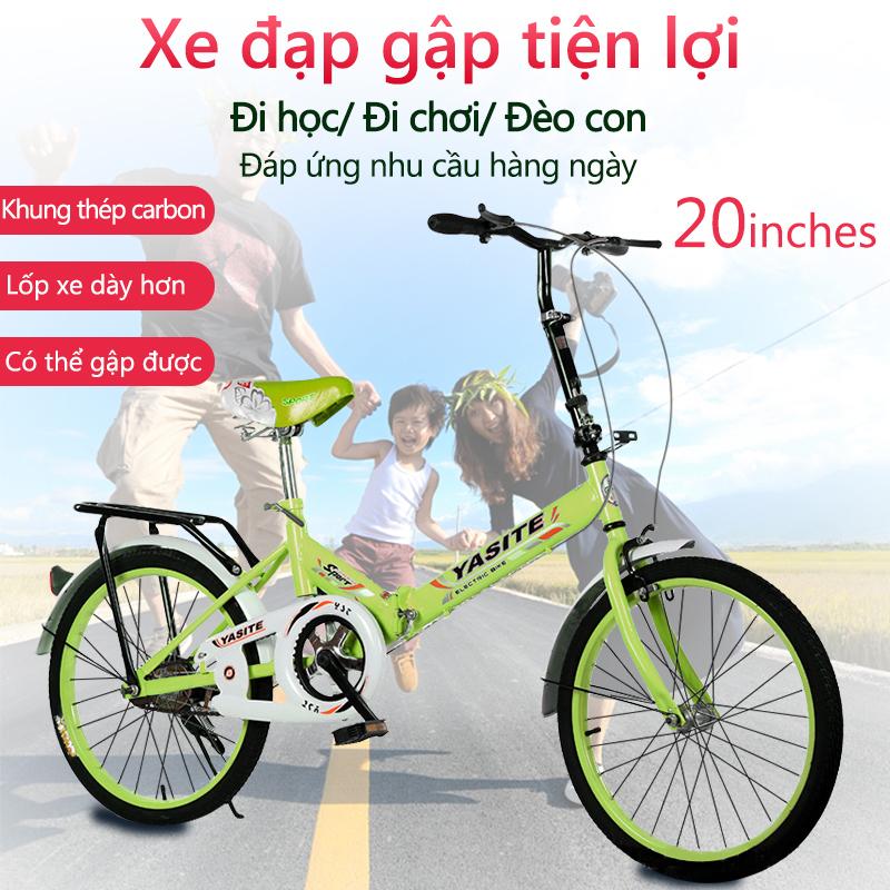 Mua Xe đạp 20 inch có thể gấp gọn 2 màu xanh lam xanh lá xe đạp cho thanh niển, người già camry