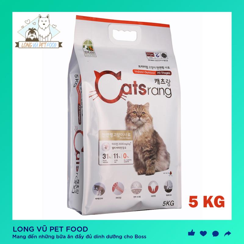 Thức ăn hạt CATSRANG 5kg cho mèo ( mọi lứa tuổi) - Hàn Quốc - [Thú Cưng] - hạt cho mèo catrang 5kg, hạt catsrang - Long Vũ Pet Food