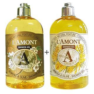 2 chai Sữa Tắm LAmont Hương Hạnh nhân và Hương Hoa Mimosa - 500ml chai thumbnail