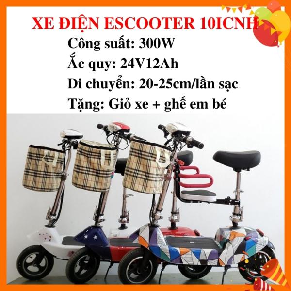 Mua Xe đạp điện Scooter 10inch Plus, xe điện người lớn, xe đạp điện cho học sinh cấp 2 hàng chuẩn, bảo hành 12 tháng, tặng kèm đủ phụ kiện