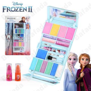 Bafada For Disney Frozen Makeup Set- Đã được kiểm nghiệm an toàn- Không độc hại, Bộ đồ chơi trang điểm cho bé gái, Chứa cọ trang điểm, phấn mắt, má hồng, son môi, son bóng, có Gương và Đóng bảo mật, Bộ mỹ phẩm, Tiệm làm đẹp cho trẻ em giả vờ chơi thumbnail