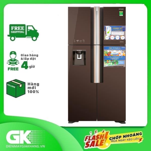 TRẢ GÓP 0% - Tủ lạnh Hitachi Inverter 540 lít R-FW690PGV7 GBW- Bảo hành 12 tháng
