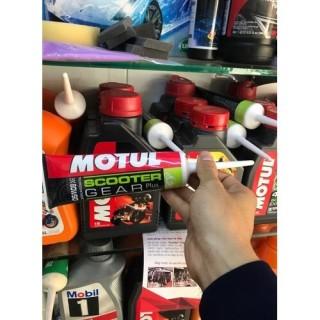 Nhớt hộp số Motul Scooter Gear Plus 80W90 120ml, nhớt láp dành cho xe ga - Tặng khăn lau xe 3M thumbnail
