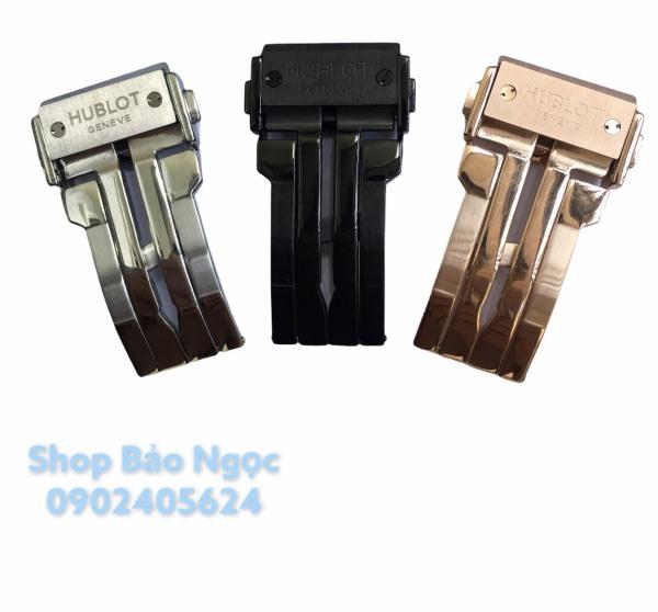 Khóa dây đồng hồ hublot nam nữ ,màu trắng, vàng hồng, đen đủ size 18-20-22 khóa kim loại cao cấp (KHBL) bán chạy