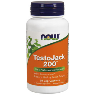 TestoJack 200 Công thức tuyệt hảo giúp Tăng Cường Sinh Lực Nam Giới, các thảo dược tự nhiên quý hiếm được biết đến để hỗ trợ hoạt động sinh lý khoẻ mạnh và sức khoẻ tổng thể của người đàn ông (60 Viên) thumbnail