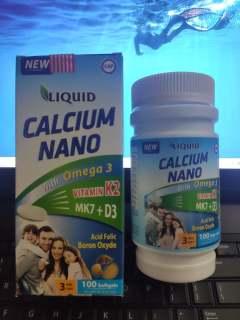 LIQUID Calci Nano Omega 3 Lọ 100 viên thumbnail