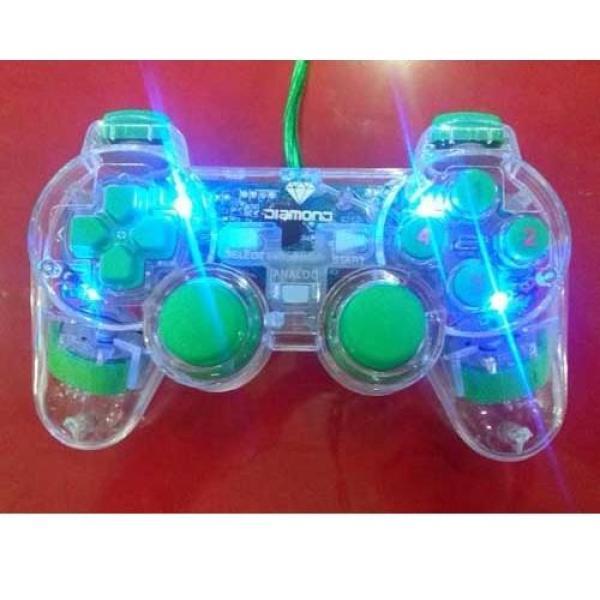 Tay cầm chơi game hổ trợ rung USB cho pc laptop Tay cầm chơi game có dây rời kiểu PS3 Dualshock3 cho PC LED XANH