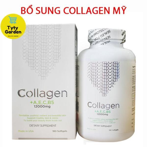 Viên Uống Collagen + AEC B5 12000MG USA (Hộp 180 viên) - Đẹp da, ngăn ngừa lão hóa