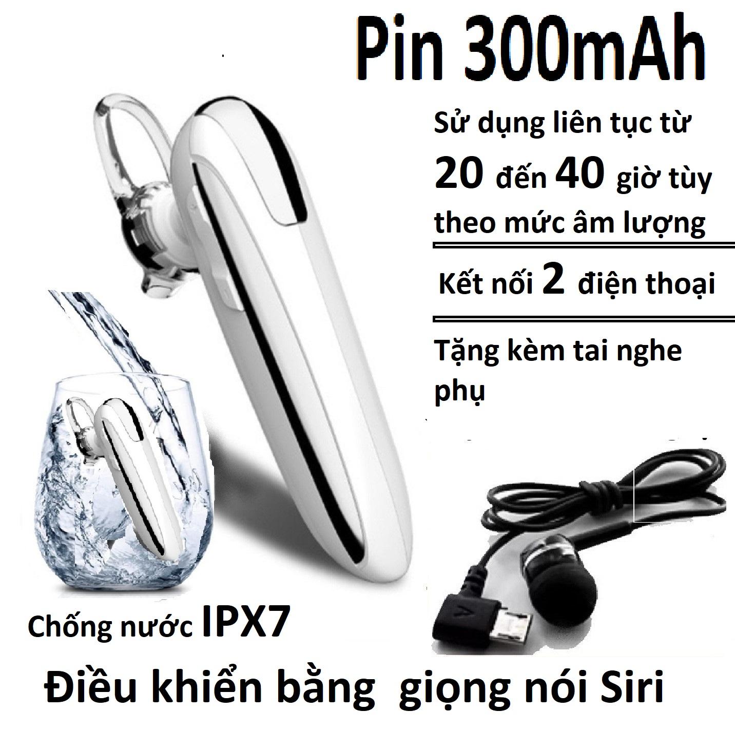 Tai nghe bluetooth Y8 chip 4.1 , Tai nghe không dây X8 chip 5.0 ,kết nối 2 điện thoại, chống nước, pin 300mAh, đàm thoại 32h, nghe nhạc từ 20h đến 30h tùy theo âm lượng,tặng  kèm móc đeo tai, bảo hành 1 đổi 1
