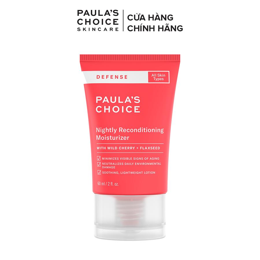 Dưỡng ẩm ban đêm, khôi phục vẻ tươi trẻ cho làn da mềm mịn Paula's Choice Defense Nightly Reconditioning Moisturizer 60ml