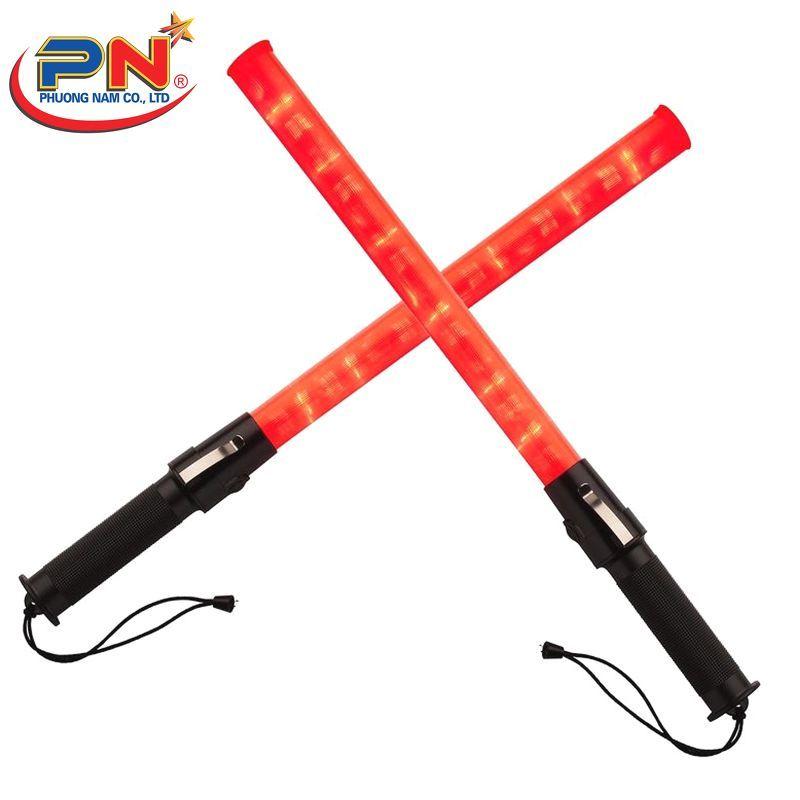 Gậy đèn chỉ huy 45cm dùng pin điều khiển cảnh báo công trình, điều khiển an toàn giao thông