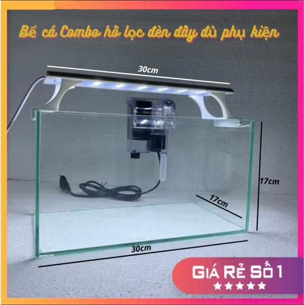 Bể cá mini COMBO ĐẦY ĐỦ, bể cá để bàn dùng nuôi kiểng hoặc thủy sinh