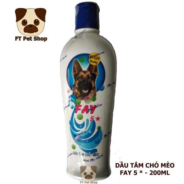 Sữa Tắm Phòng Diệt Ve Rận Bọ Chét, Thơm Lâu, Mượt Lông Cho Chó - Fay 5 Sao 200ml