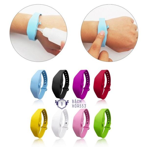 Vòng đeo tay silicon đựng nước rửa tay khô 10ml - Đồng hồ chống dịch (Màu ngẫu nhiên) BH935