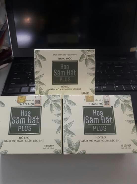 Combo 2 hộp trà giảm cân Hoa Sâm Đất Plus