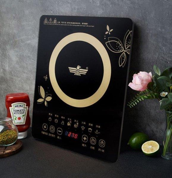 Bếp từ đơn Eagle GB 4706, Công Suất 2000W. Bếp từ cảm ứng mặt kính chịu nhiệt chịu lực tốt-Tiết kiệm điện (Đen) - Bảo hành 6 tháng
