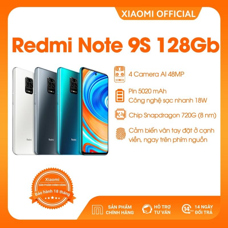 [XIAOMI OFFICIAL] Điện thoại Xiaomi Redmi Note 9S 6GB/128GB - Snapdragon 8 nhân 720G, Màn hình 6.67 inches, Pin siêu khủng 5020mAh sạc nhanh 18W, 4 Camera 48MP/8MP/5MP/2MP góc siêu rộng - BH CHÍNH HÃNG 18 tháng