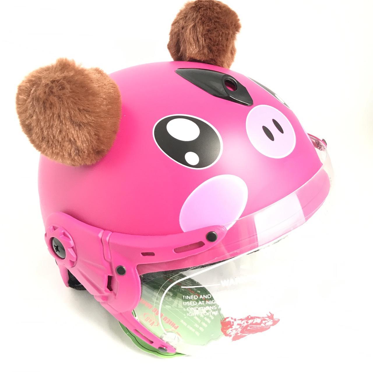 Giá bán Mũ bảo hiểm trẻ em có kính VS hình heo dễ thương cho bé từ 3-6 tuổi