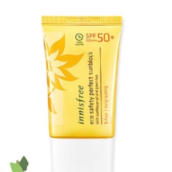 Kem chống nắng Innisfree Eco Safety Perfect Sunblock SPF 50, cam kết sản phẩm đúng mô tả, chất lượng đảm bảo