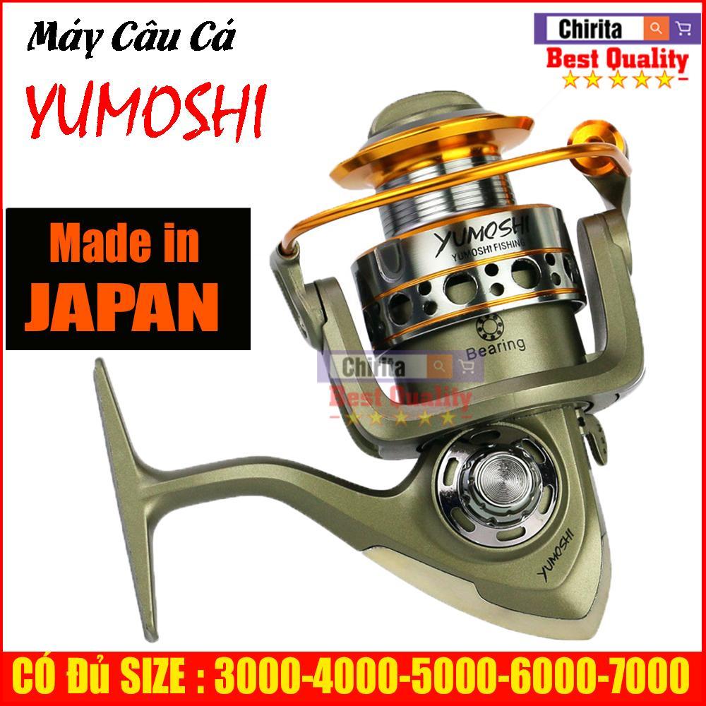 Máy câu cá Yumoshi LC 12 bạc đ ạn ĐỦ SIZE 3000, 4000, 5000, 6000, 7000 - Chirita Shop