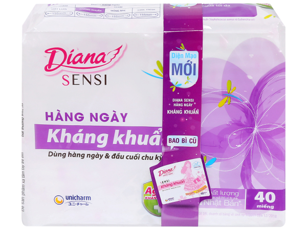 BVS Diana Hằng Ngày Sensi Kháng Khuẩn 20-40 Miếng giá rẻ