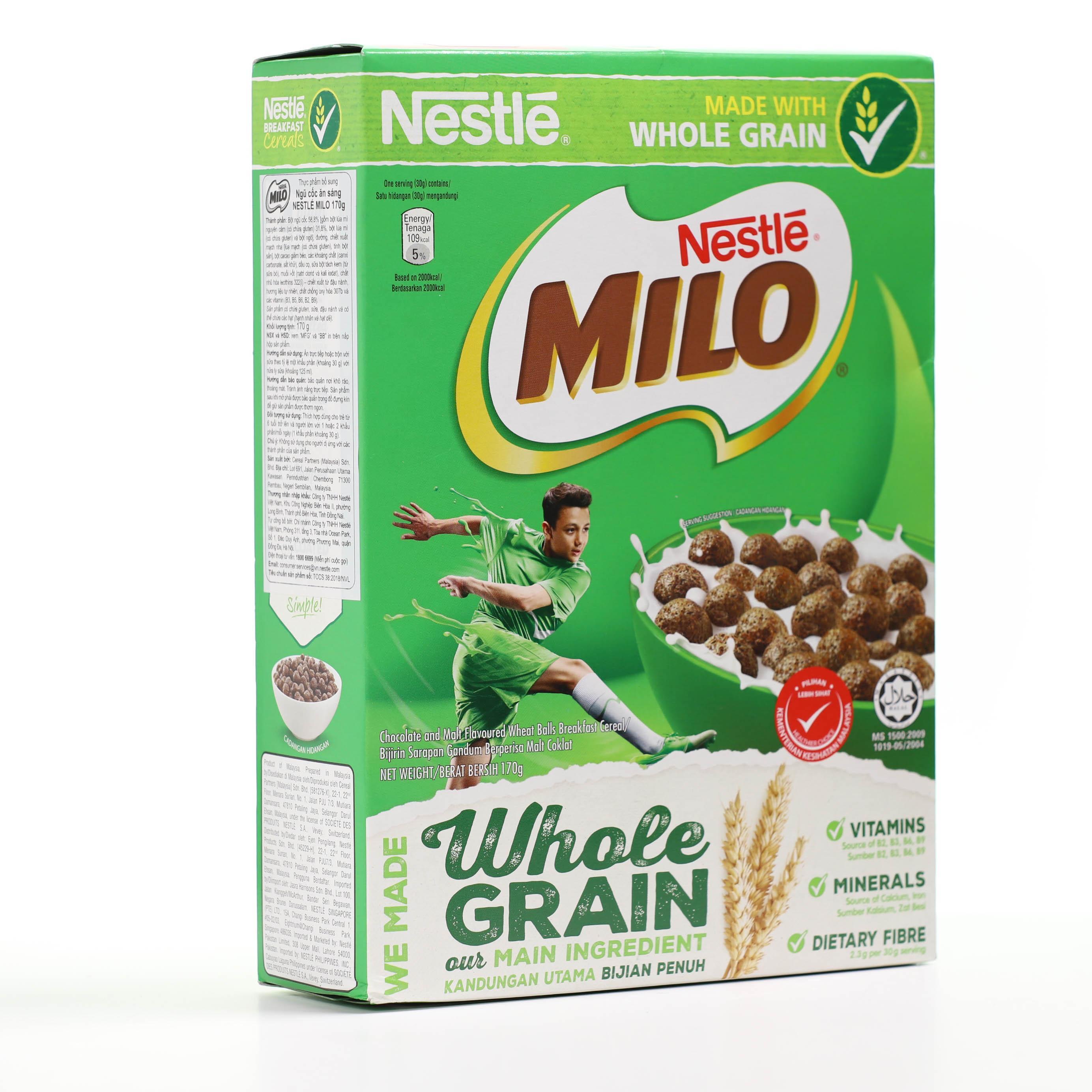 Ngũ cốc ăn sáng Nestle Milo hộp 170g