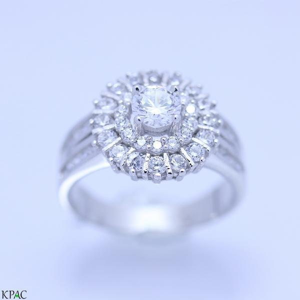 Nhẫn nữ cao cấp bạc 92.5% KPAC: Royal style (nu071904)