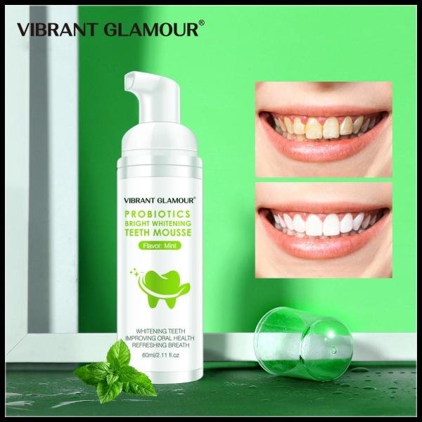 Mousse Tẩy Trắng Răng Khử Mùi Hôi Miệng Làm Sạch Răng Vibrant Glamour Whitening Teeth Oral Treatment