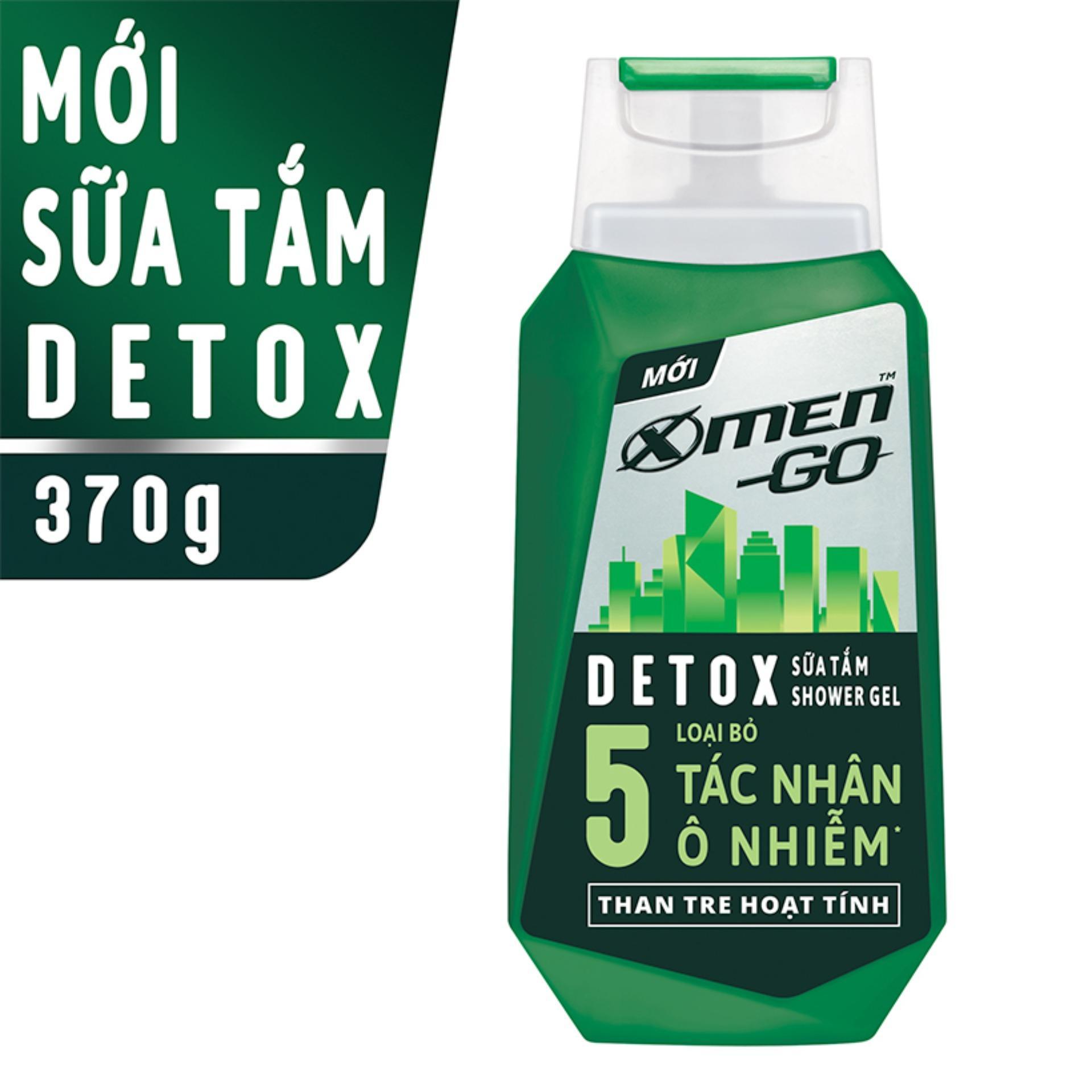 Sữa tắm X-Men Go DETOX Than Tre Hoạt Tính 370G nhập khẩu